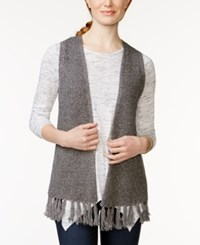 G.H. Bass And Co. Open Front Fringe Trim Vest