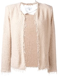 Iro Frayed Jacket Nude Neutrals