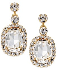 Inc International Concepts Gold Tone Oval Crystal Drop Earrings Only At Macy's