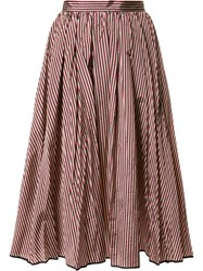 Tome Flared Stripe Skirt Women Polyester Taffeta 8