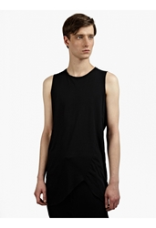 Thom Krom Men's Black Lightweight Raw Edge Tank