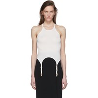 Dion Lee White Garter Tank Top