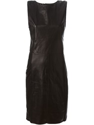Drome Sleeveless Fitted Dress Black