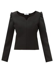 Msgm Sweetheart Neck Cady Blouse Black