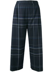 Stephan Schneider Checked Cropped Trousers Blue
