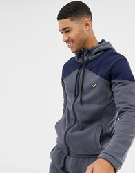 Voi Jeans Tracksuit Zip Through Hoodie In Navy
