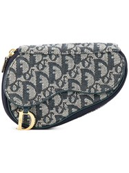 Christian Dior Vintage Trotter Cosmetic Bag Pouch Blue