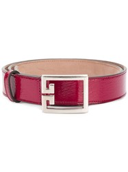 Givenchy Oversized Buckle Belt Pink And Purple