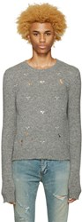 Faith Connexion Grey Embellished Sweater