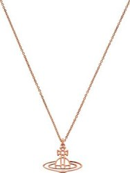 Vivienne Westwood Thin Lines Short Flat Orb Pendant Rose Gold