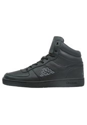 Kappa Trooper Deluxe Mid Hightop Trainers Black Grey