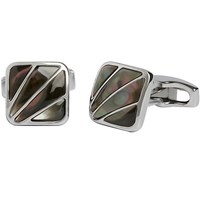 Simon Carter Mother Of Pearl Deco Fan Cufflinks Grey