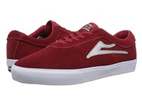 Lakai Sheffield Red Silver Suede Shoes