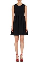 Lisa Perry Pleated Sleeveless Dress Black
