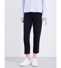 Moandco. Cropped Skinny Trousers Dress Blues