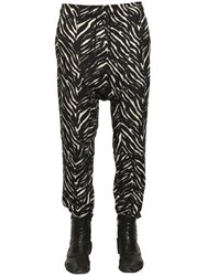 Tom Rebl Zebra Printed Baggy Jogging Pants