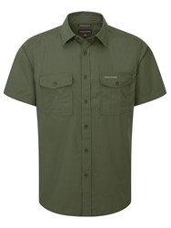 Craghoppers Kiwi Short Sleeved Shirt Green
