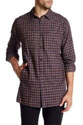 Kenneth Cole Long Sleeve Printed Flannel Shirt Multi