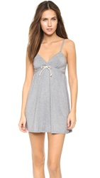 Splendid Drawstring Chemise Marled Grey Heather