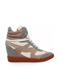 Bronx Grey Leather High Top Trainers Multigrey