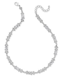 Charter Club Silver Tone Crystal Collar Necklace Only At Macy's