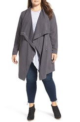 Vince Camuto Plus Size Women's Two By Space Dye Cotton Knit Jacket