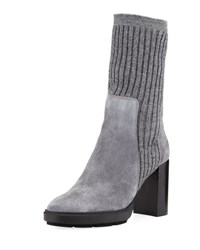 Aquatalia By Marvin K Imogen Ribbed Sweater Boot Gray