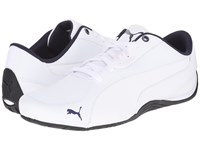 Puma Drift Cat 5 Leather White Peacoat Men's Shoes
