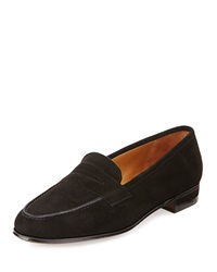 Gravati Suede Penny Keeper Loafer Black
