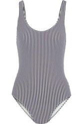 Solid And Striped The Anne Marie Seersucker Swimsuit Navy