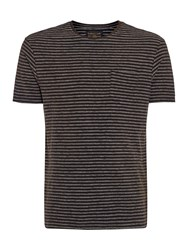 Label Lab Brookes Stripe Tee Black