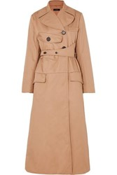 Ellery Overload Belted Padded Cotton Twill Coat Beige