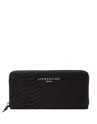Liebeskind Python Embossed Leather Wallet Black