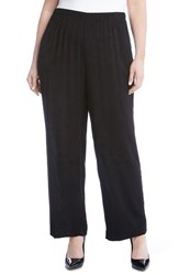 Karen Kane Plus Size Women's Wide Leg Pants Black