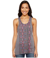 Rock And Roll Cowgirl Tank Top 49 2111 Charcoal Women's Sleeveless Gray