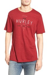 Hurley Men's The Goods Graphic T Shirt Gym Red