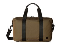 Knomo Brompton Munich Weekend Duffel Deep Army Green Duffel Bags Brown