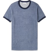 Schiesser Hartmut Cotton Terry T Shirt Blue