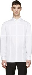 Christopher Kane White Grid Channel Shirt