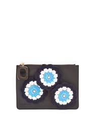 J.W.Anderson Daisies Crochet Leather Pouch Black Multi