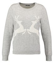 Gant Jumper Light Grey Melange Silver