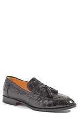 Zelli Men's 'Como' Genuine Crocodile Tassel Loafer
