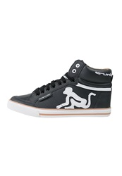 Drunknmunky Boston Classic Hightop Trainers Black