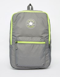 Converse Horizontal Zip Backpack Grey