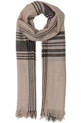 By Malene Birger Lawaski Scarf In Neutrals Checkered And Plaid