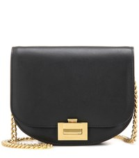 Victoria Beckham Box With Chain Leather Shoulder Bag Black