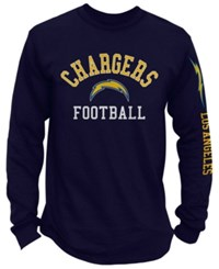 Nfl Authentic Apparel Los Angeles Chargers Spread Formation Long Sleeve T Shirt Navy