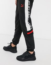 Puma Xtg Joggers In Black And Red
