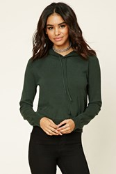 Forever 21 Knit Drawstring Hoodie