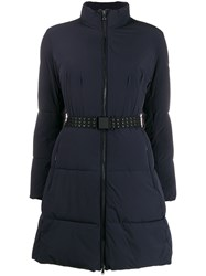 Emporio Armani Belted Funnel Neck Padded Coat 60